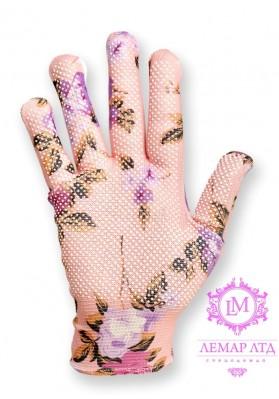 Перчатки нейлоновые с ПВХ точкой