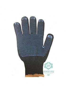 Перчатки трикотажные с ПВХ точкой усиленные арт. 711