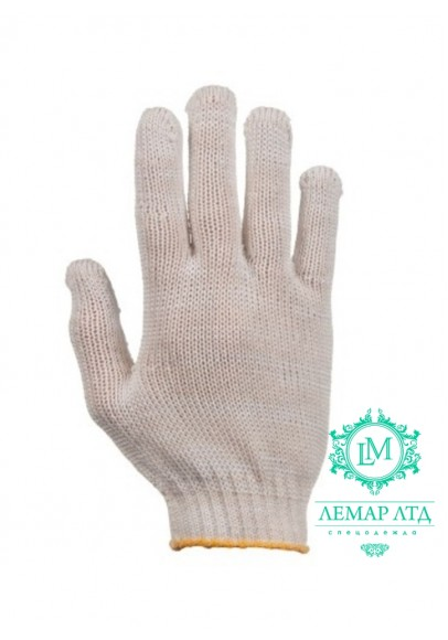 Перчатки трикотажные эконом без ПВХ точки арт. 120с