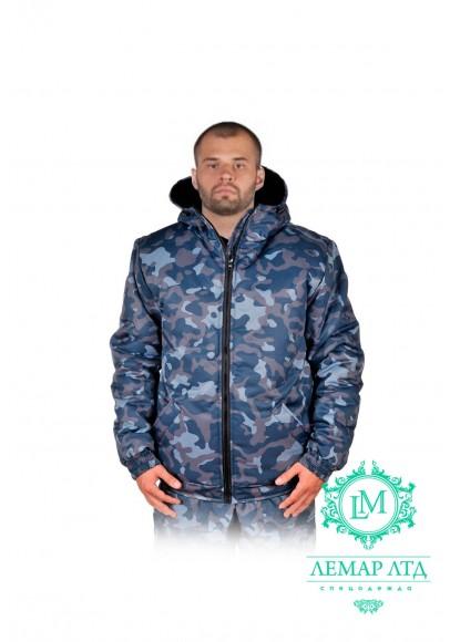 Куртка утепленная камуфлированная укороченная
